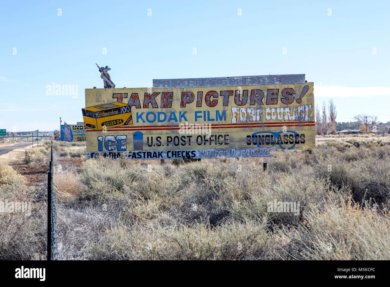 Ancienne enseigne publicitaire Kodak Photo Stock