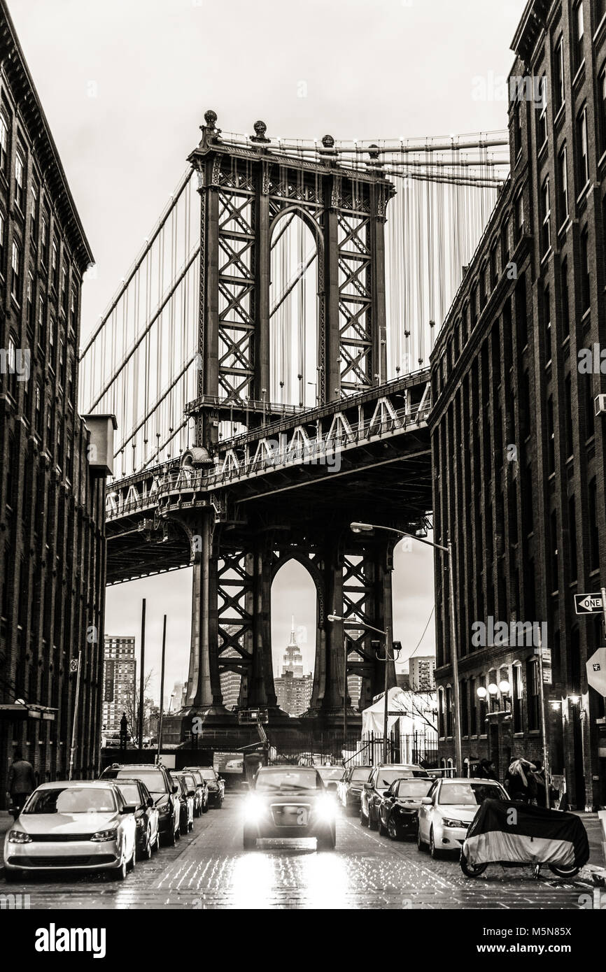 Pont de Manhattan, New York City, USA. Banque D'Images