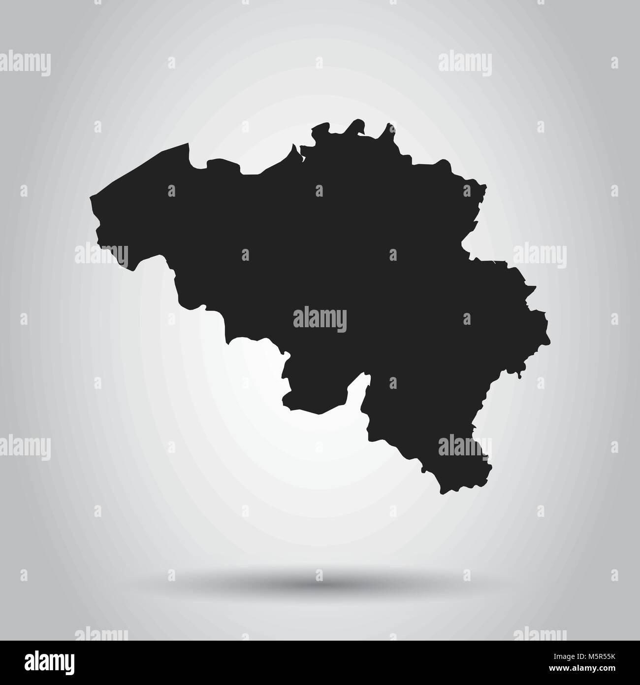 Carte Belgique Noir Et Blanc.Belgique Carte Vectorielle Icone Noire Sur Fond Blanc