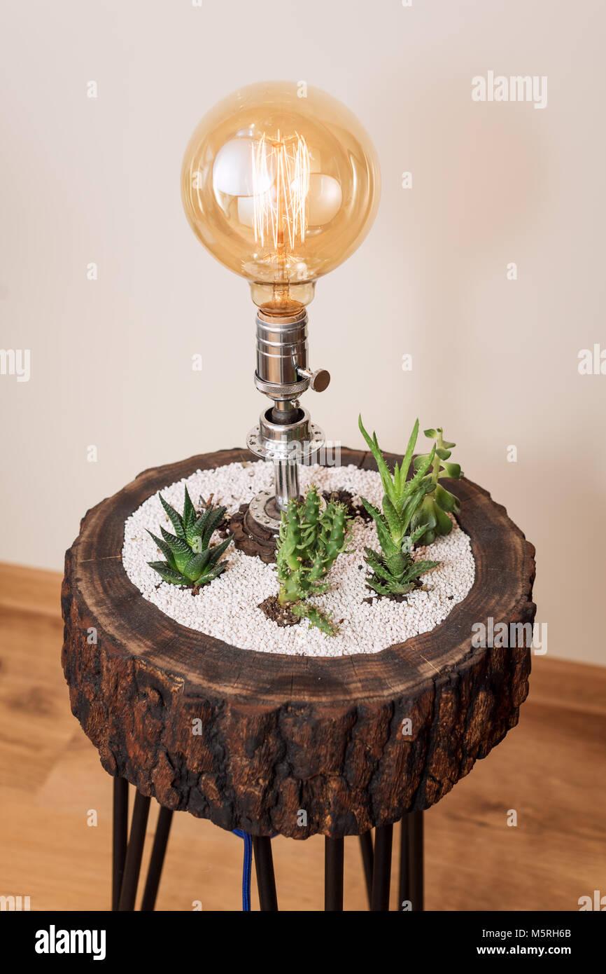 Vintage Et Eclairage Interieur Creatif Pour Lampe De Table