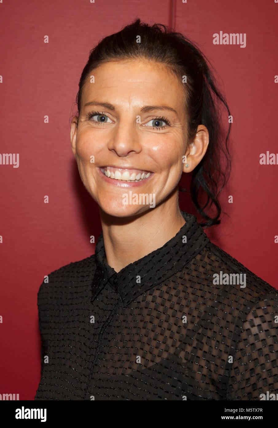 ANNA Suédois LINDBERG diver 2018 plusieurs fois vainqueur du championnat d'Europe de l'or Photo Stock