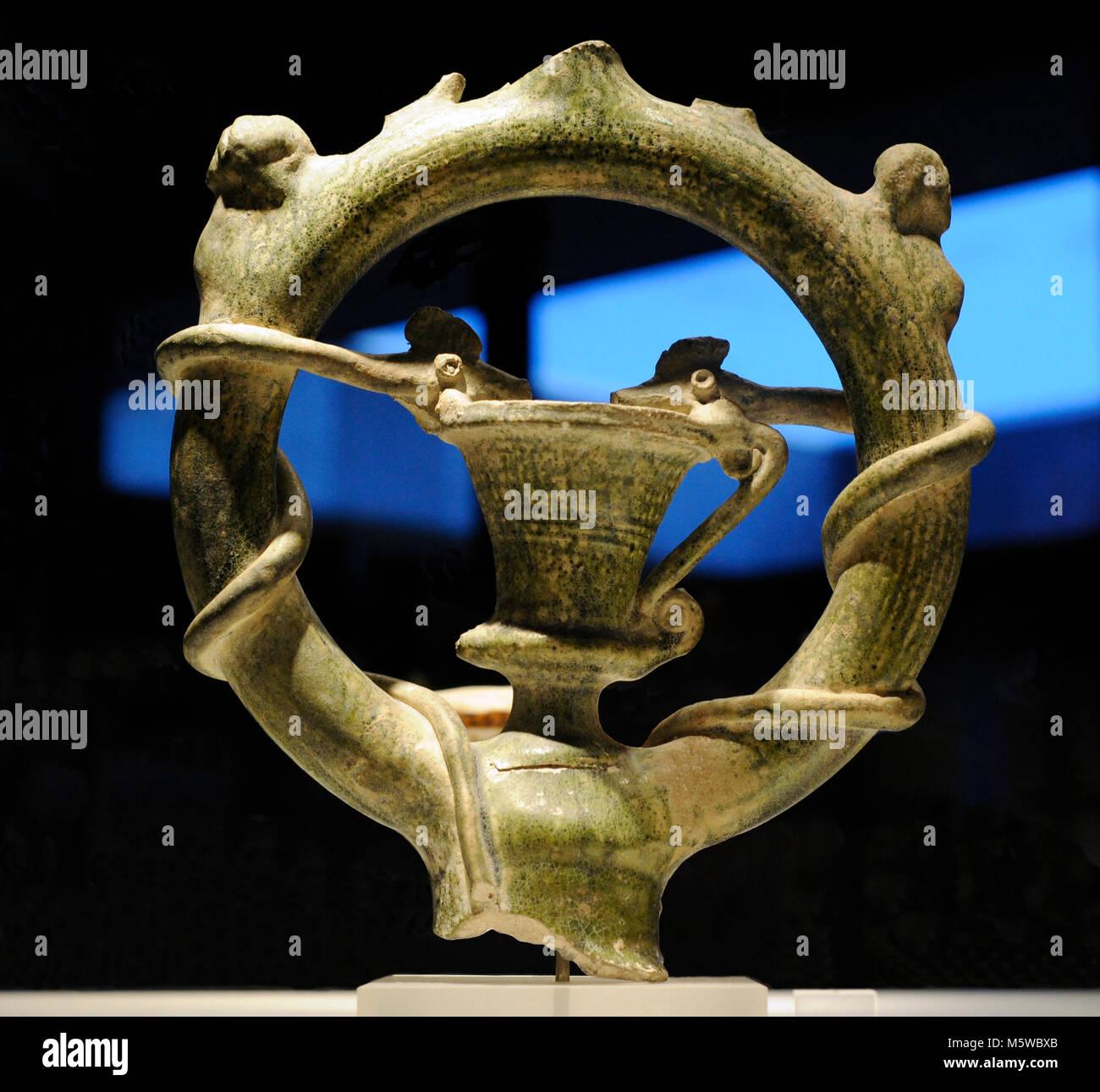 Mithra. Dieu solaire perse. Objet de culte Mithraïque, très répandu dans l'Empire romain Banque D'Images