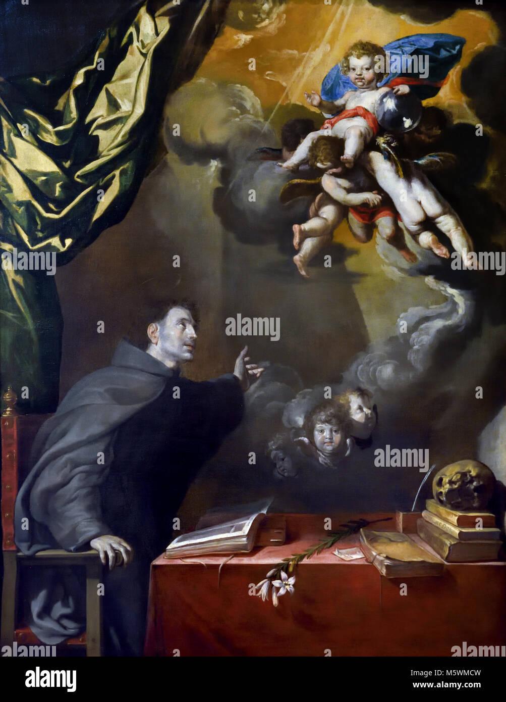L'apparence de l'enfant à San Antonio 1650 Artiste Antonio del castillo y Saavedra (1616-1668) 17ème Photo Stock
