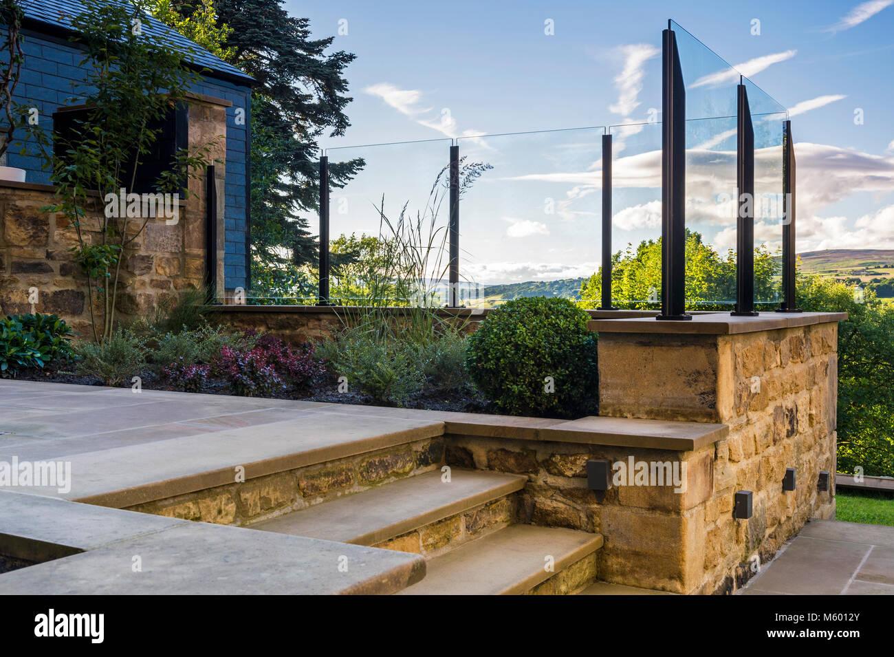 Coin de belle, paysagé, jardin privé (design contemporain, chemin ...