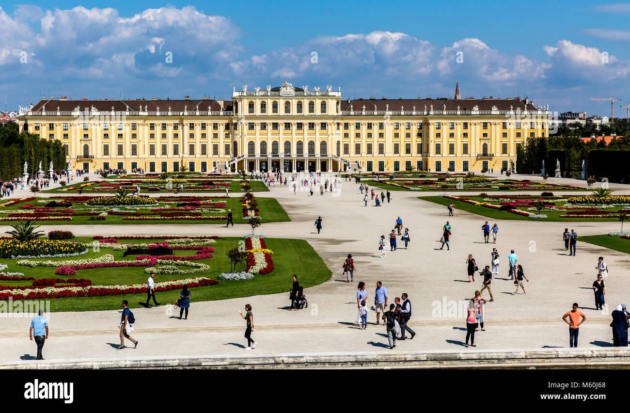 Les jardins du palais de Schönbrunn, Schonbrunn, Vienne, Autriche. Photo Stock