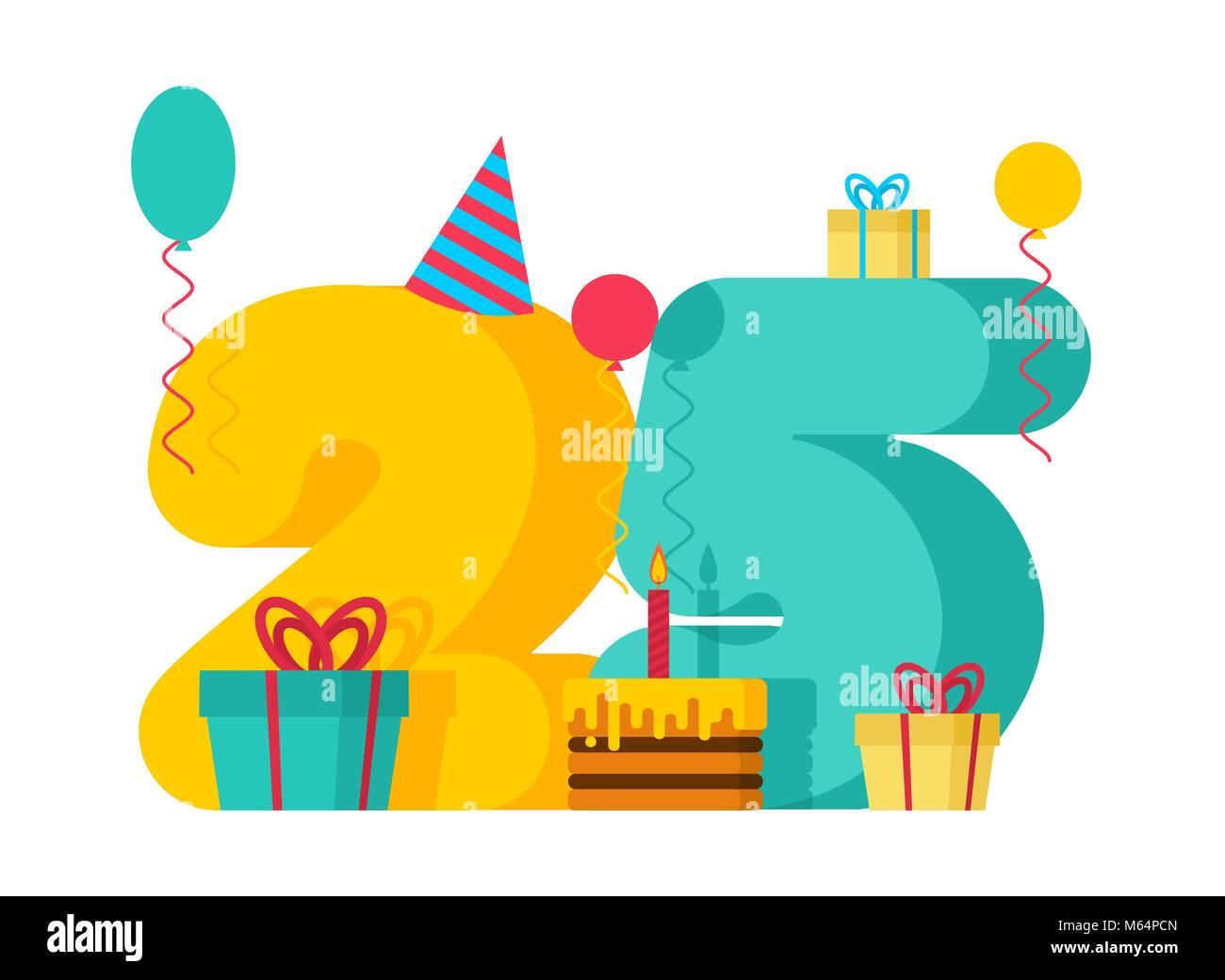 joyeux anniversaire 25 ans carte de v ux festivit s du 25e anniversaire de mod le vingt cinq. Black Bedroom Furniture Sets. Home Design Ideas