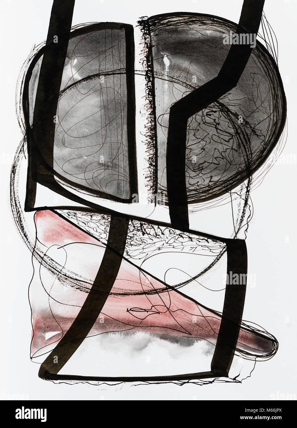 Un abrégé dessin calligraphique. Photo Stock