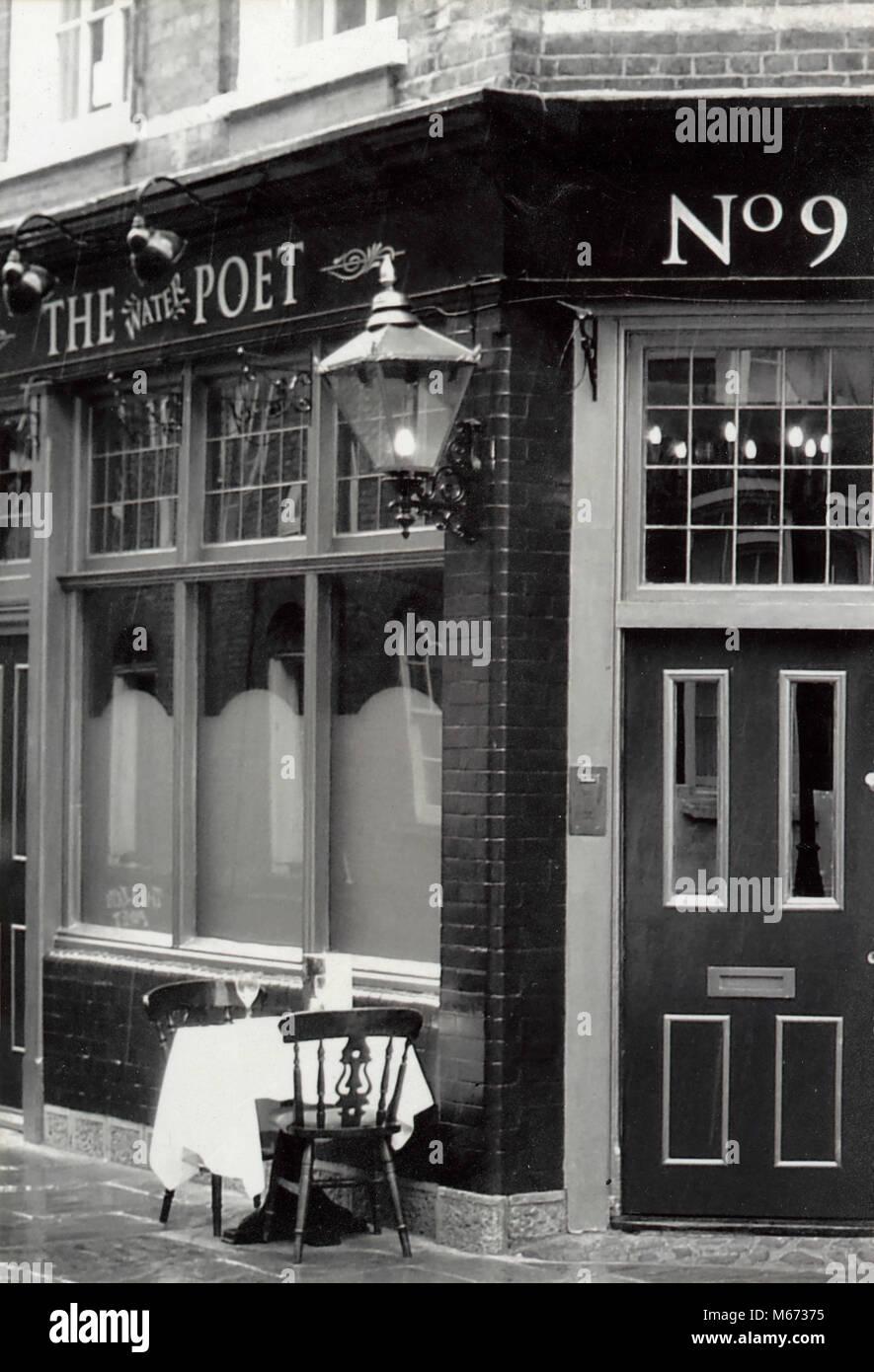 Le poète de l'eau pub, Spitalfields, Londres, UK Photo Stock