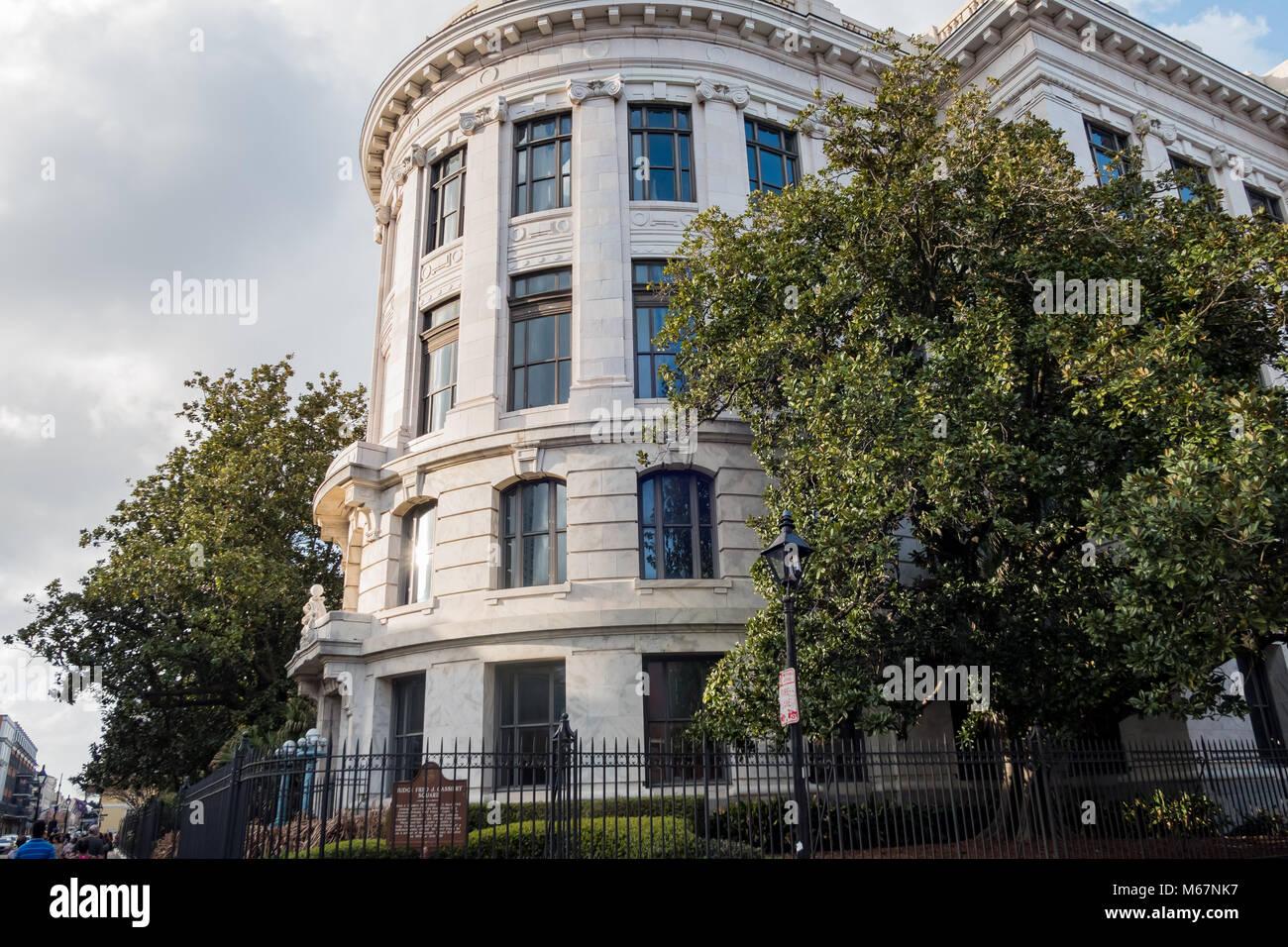 La Nouvelle Orléans, Feb 21: Vue extérieure de la belle et historique de la Cour suprême de Photo Stock