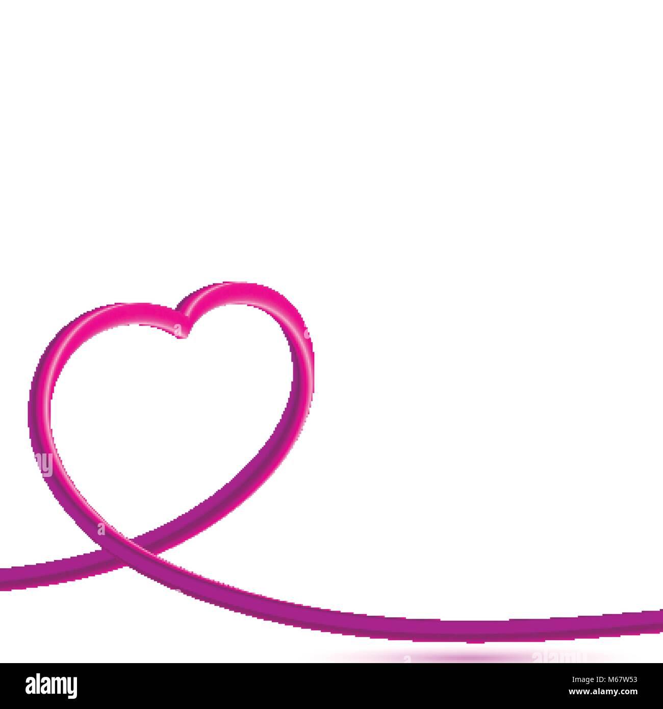 Coeur Rose 3d Silhouette Sur Fond Blanc Valentines Day Carte De Vœux Ou D Invitation De Mariage Partie Arriere Plan Design Vector Illustration Image Vectorielle Stock Alamy