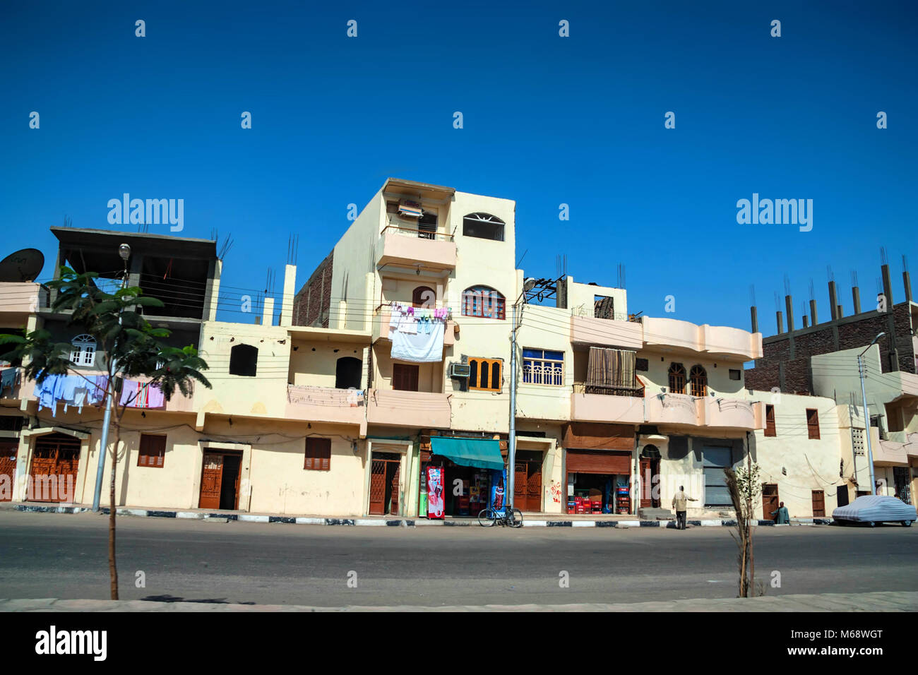 Louxor, Egypte - 17 février 2010: immeubles de Louxor, Egypte. Photo Stock