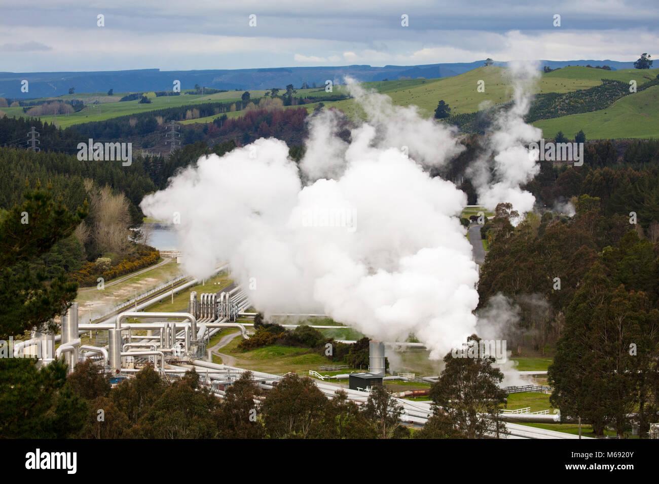 Station géothermique Wairakei Photo Stock