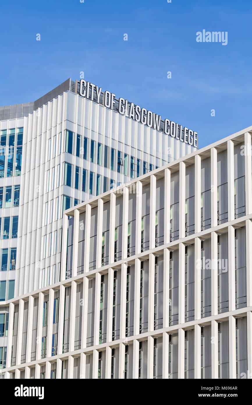 Ville de Glasgow College campus en ville, Ecosse, Royaume-Uni Banque D'Images