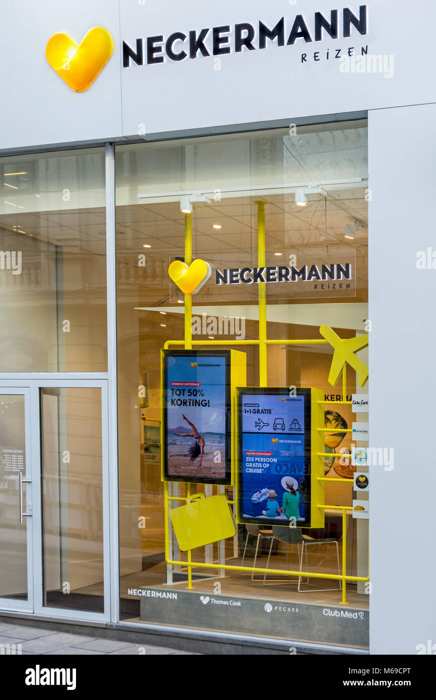 Neckermann Reizen travel shop / agence de voyage en Belgique Photo Stock