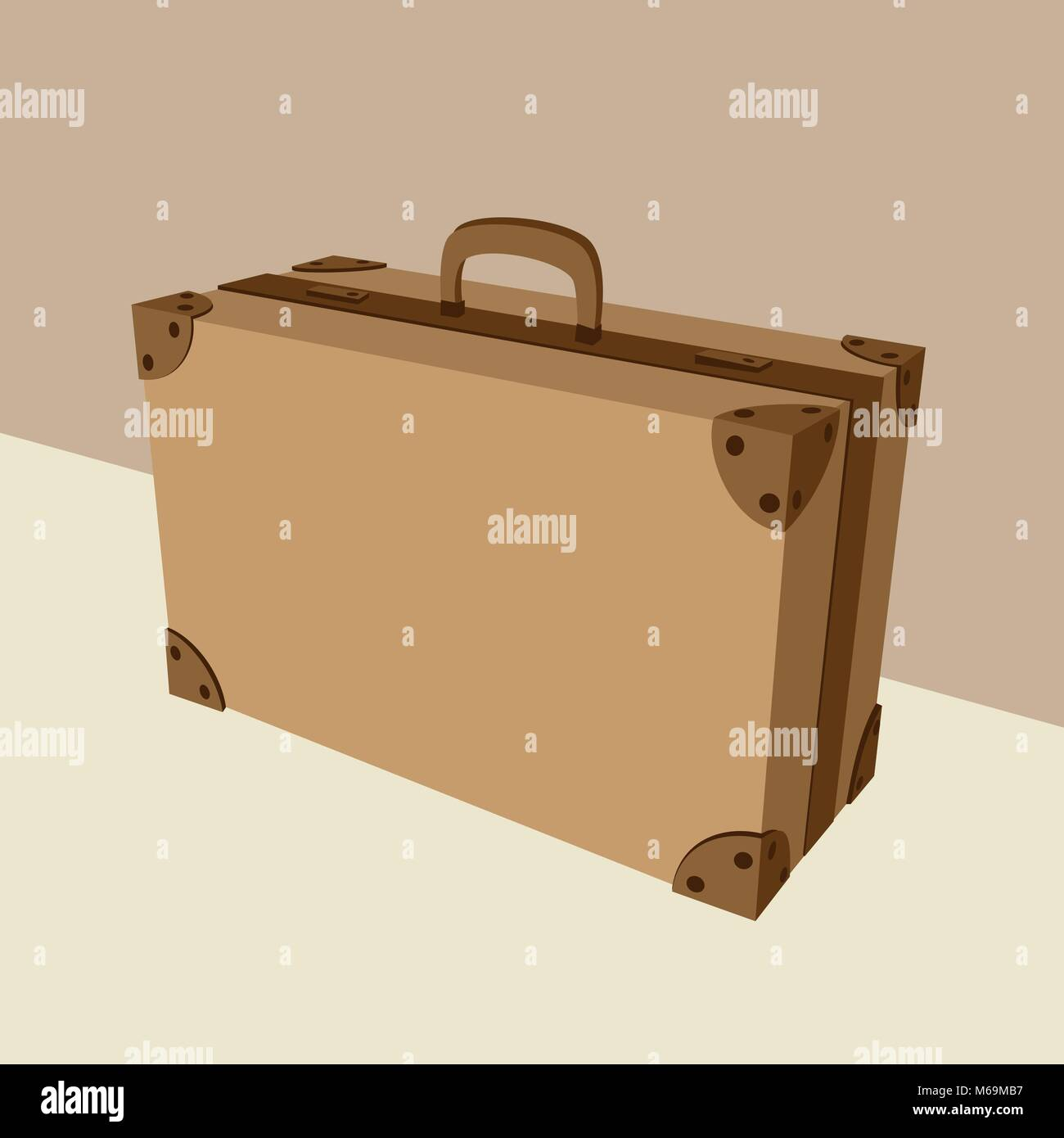 Ancienne valise fiable et robuste Photo Stock