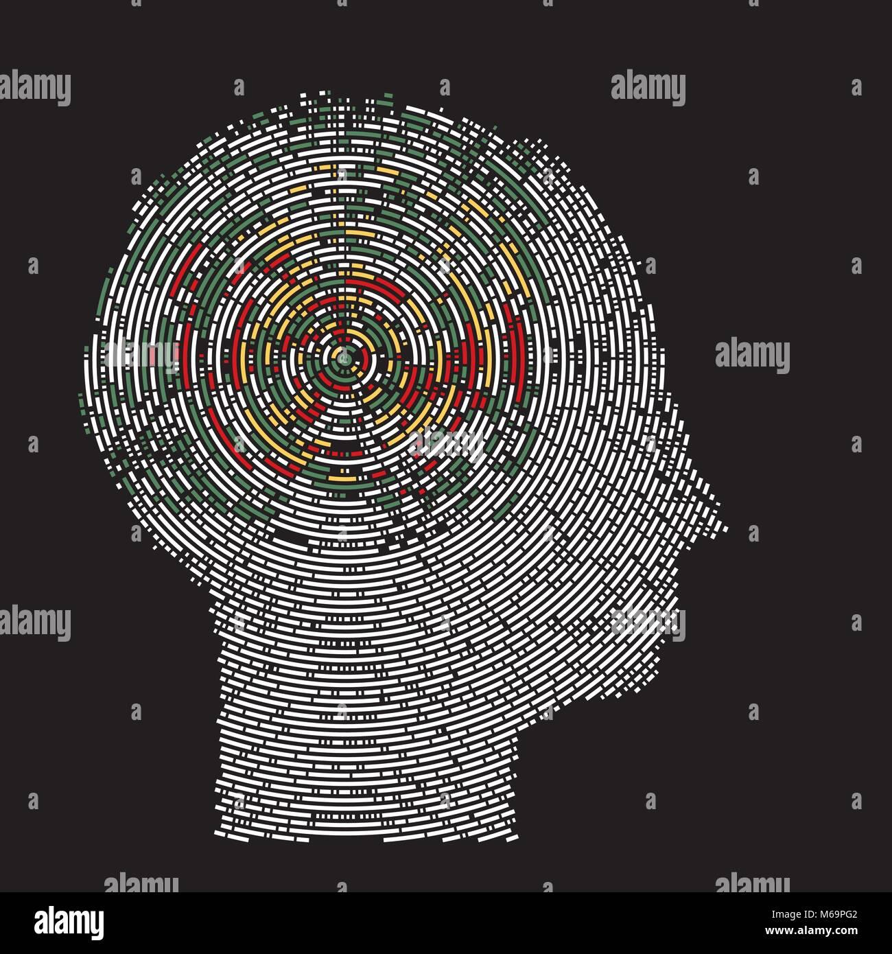 Pensées profondes du cerveau Imagerie Photo Stock