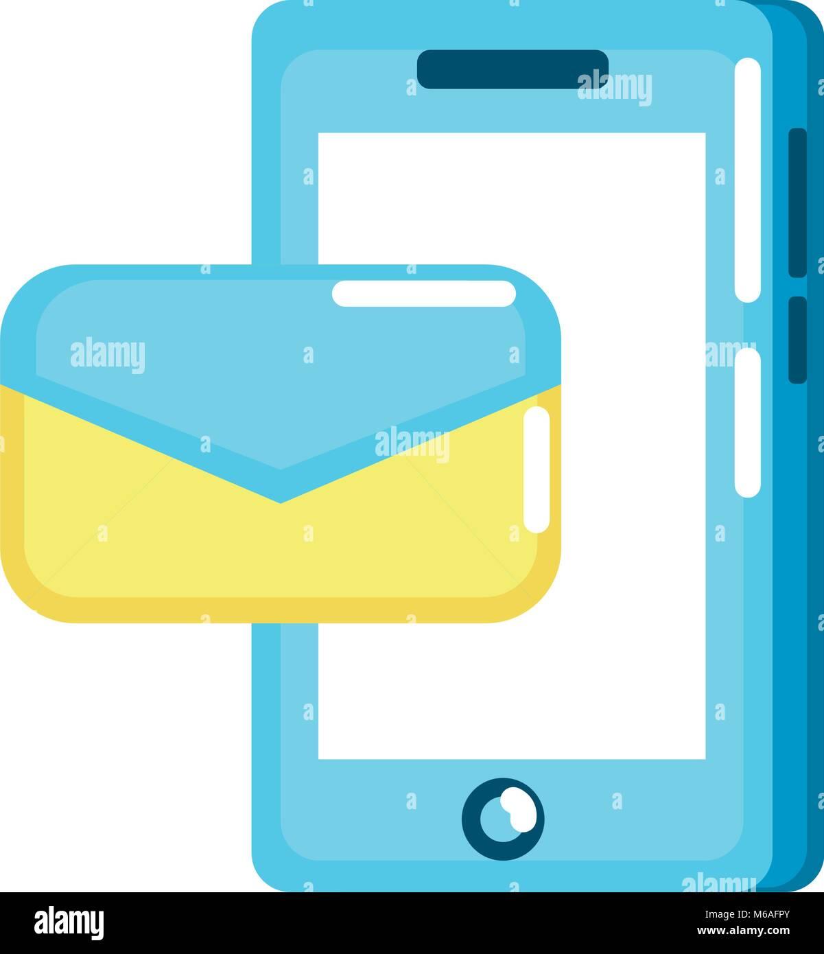 La technologie smartphone avec e-mail Message Photo Stock