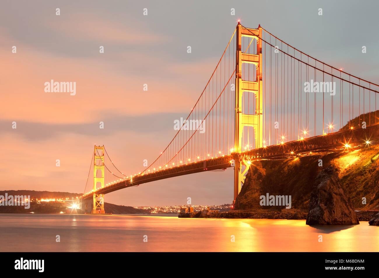 Le Golden Gate Bridge, San Francisco, California, USA Photo Stock
