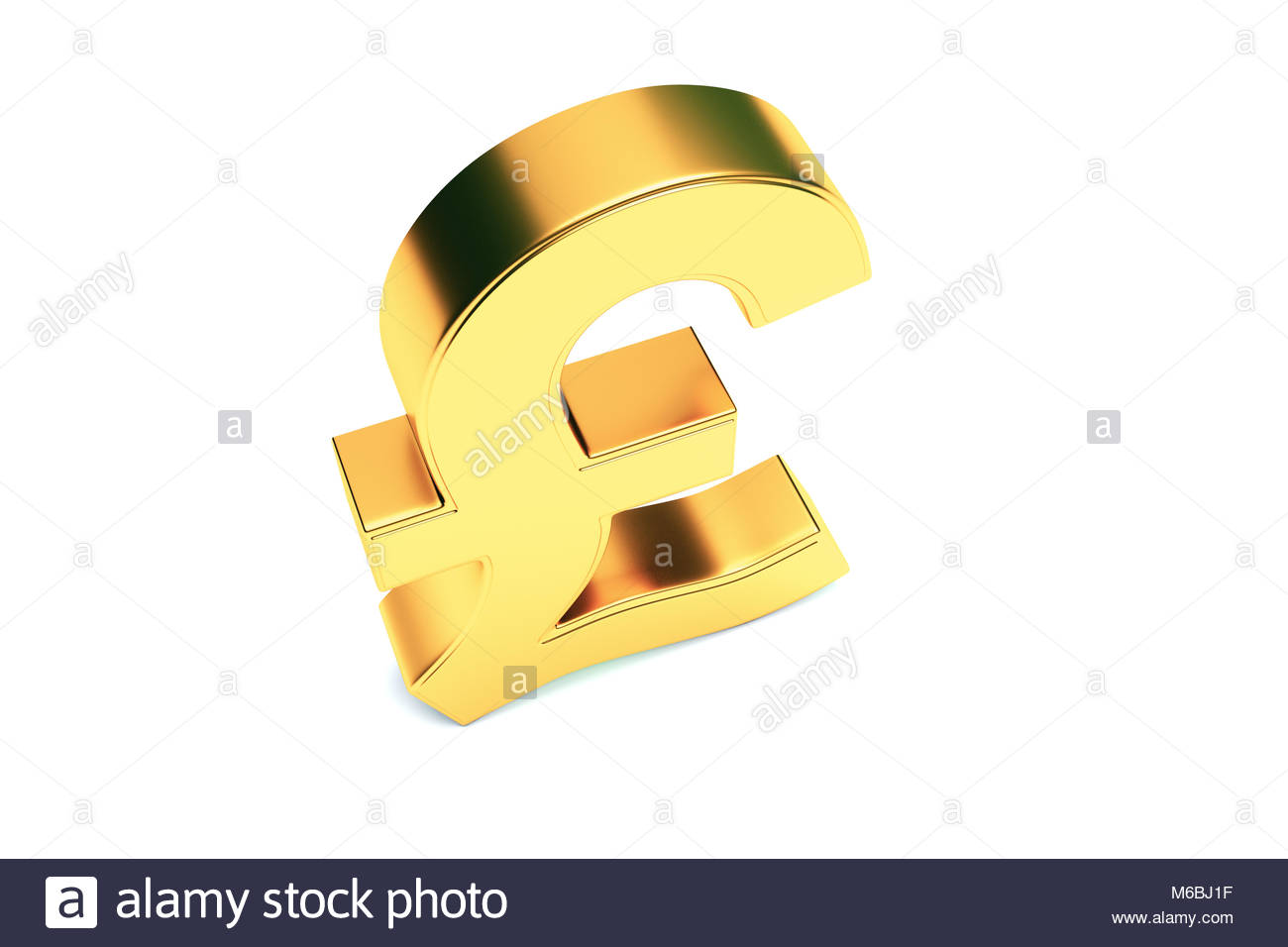 Sterling Sign Isolated On White Photo Stock