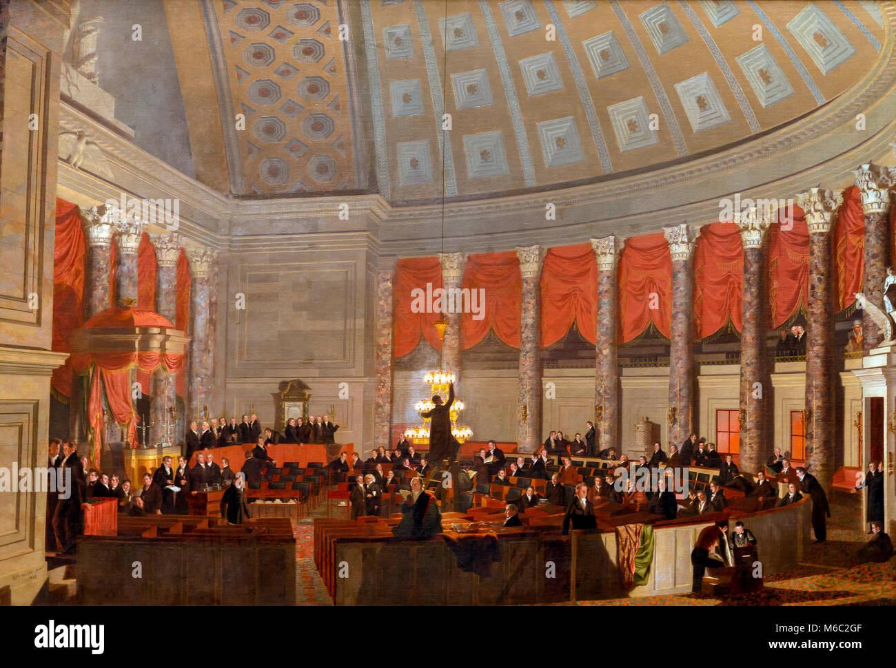 La Chambre des Représentants, Samuel Finley Breese Morse, 1822, National Gallery of Art, Washington DC, USA, Amérique du Nord Banque D'Images