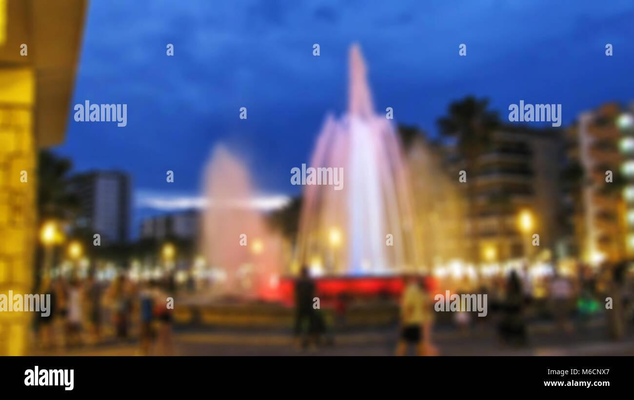 Thème du festival Fireworks creative résumé arrière-plan flou avec effet bokeh Photo Stock