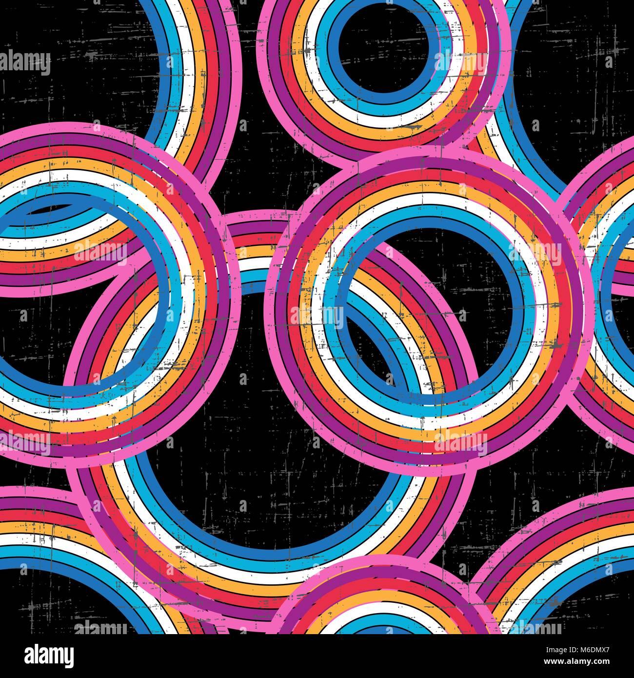 Retro grunge fond coloré - vector pattern transparente Photo Stock