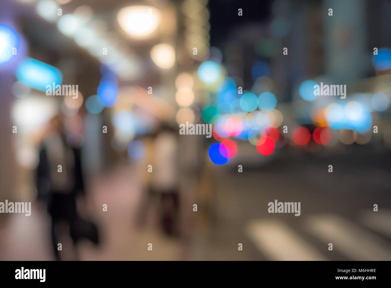 Scène de nuit urbaine de flou artistique Banque D'Images
