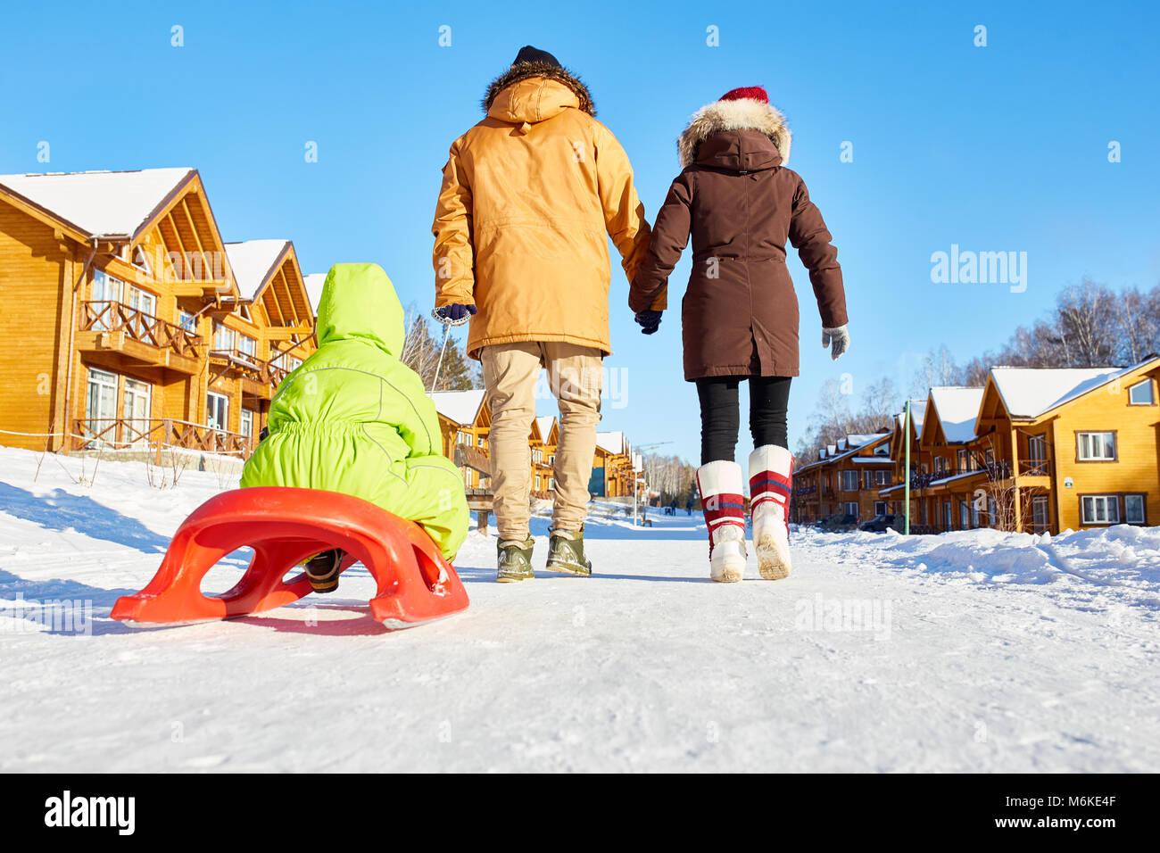 Week-end familial en plein air Photo Stock