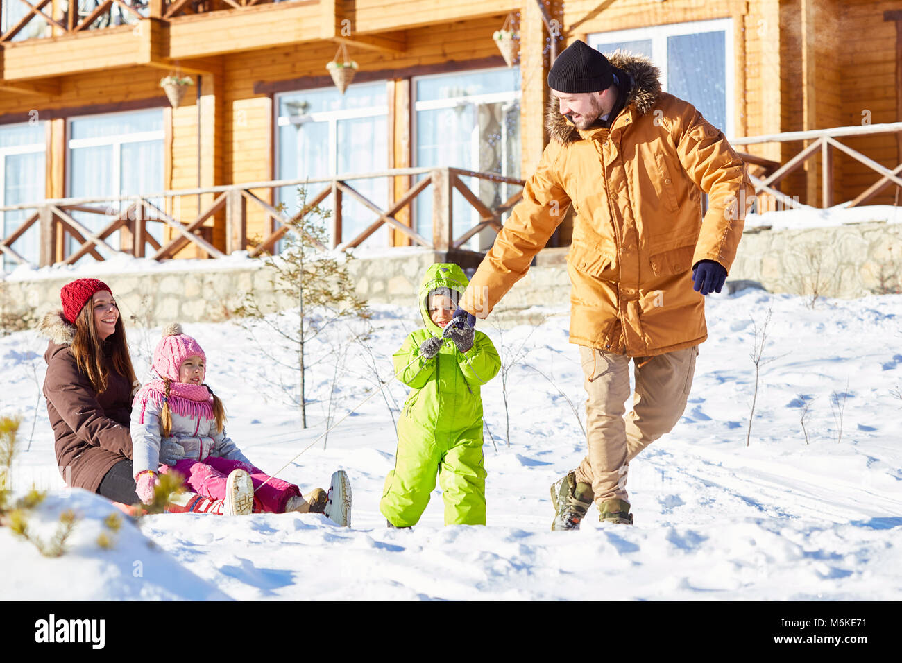 Happy-end en famille Photo Stock