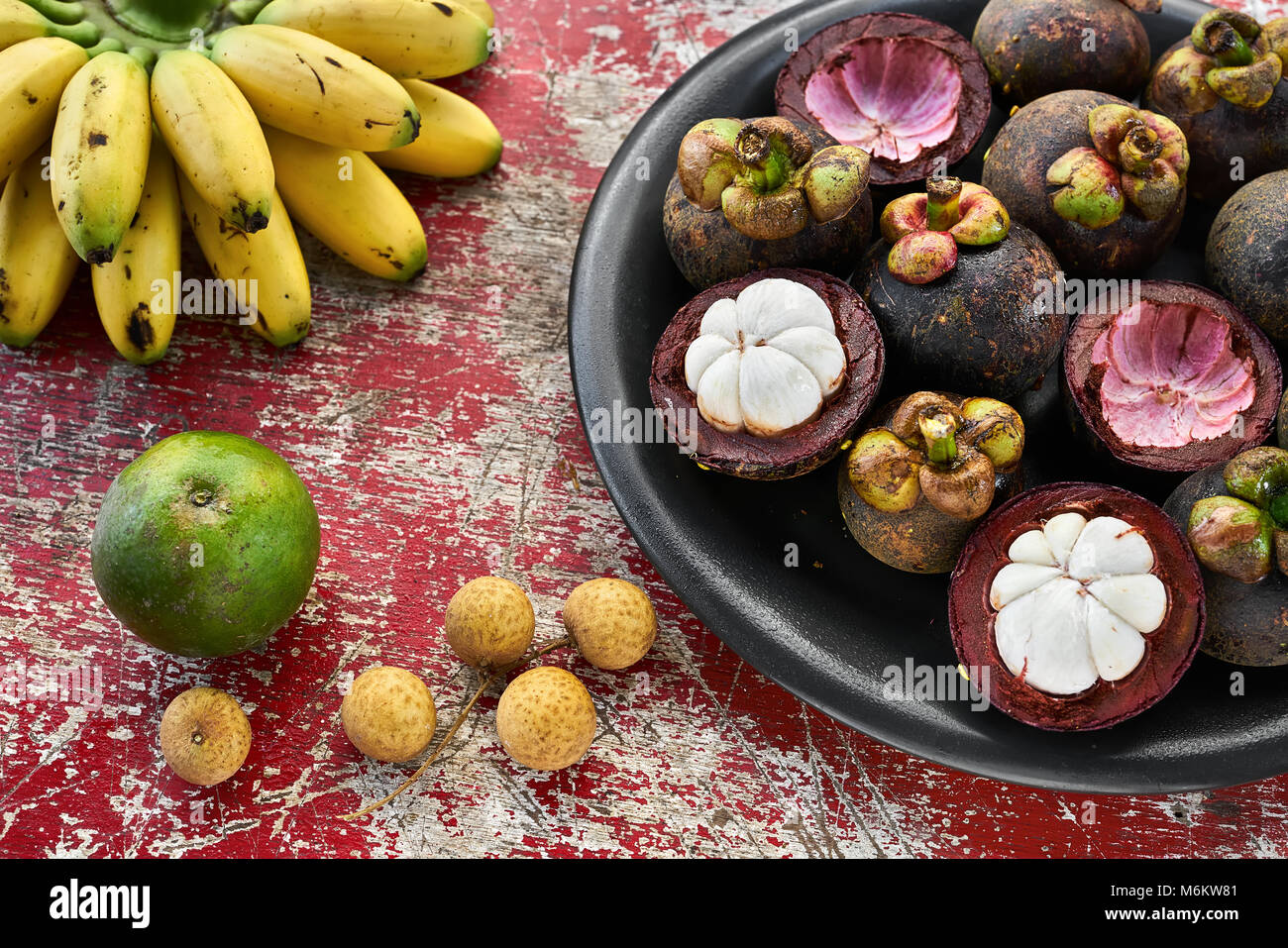 Fruits exotiques colorées Photo Stock