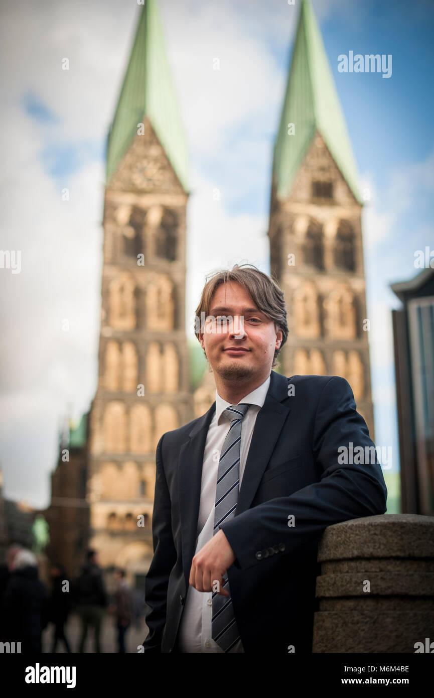 Alexander Vorwerk est chef du commerce international à la Bremen investir, en Allemagne. Il est debout dans Photo Stock