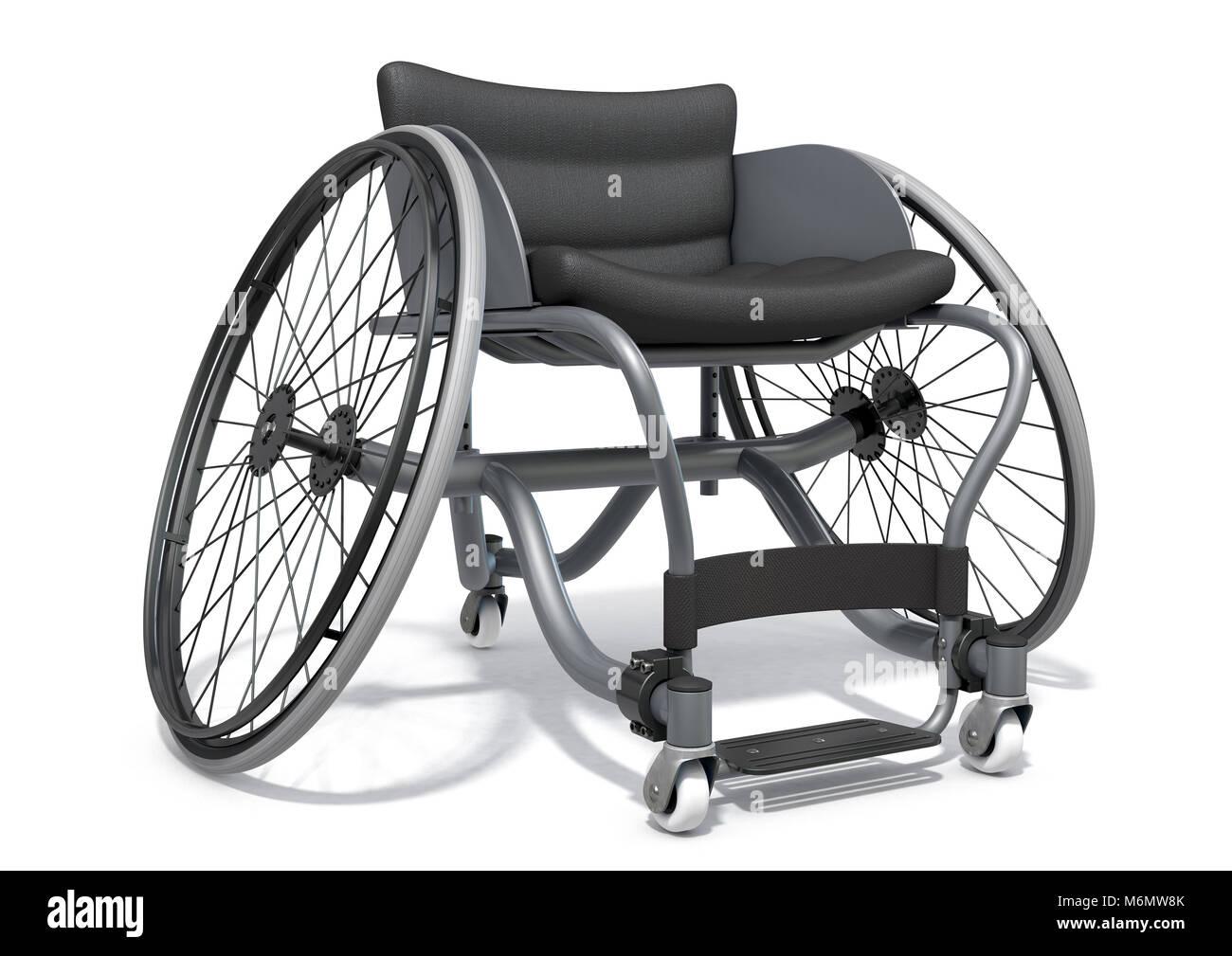 Modification d'un fauteuil roulant utilisé par les athlètes handicapés de participer à divers Photo Stock