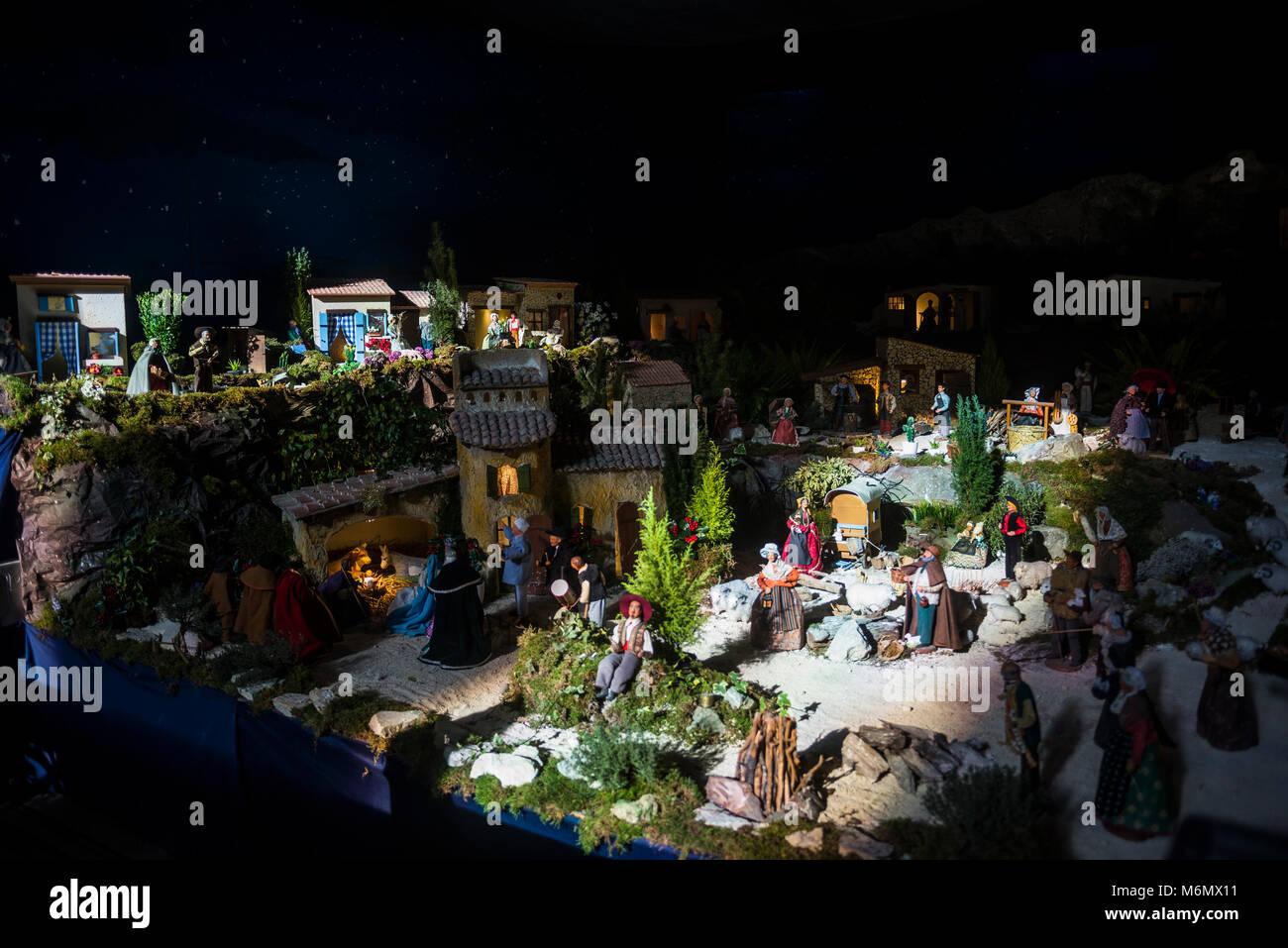 Crèche de Noël dans la ville de Marseille, Bouches du Rhône