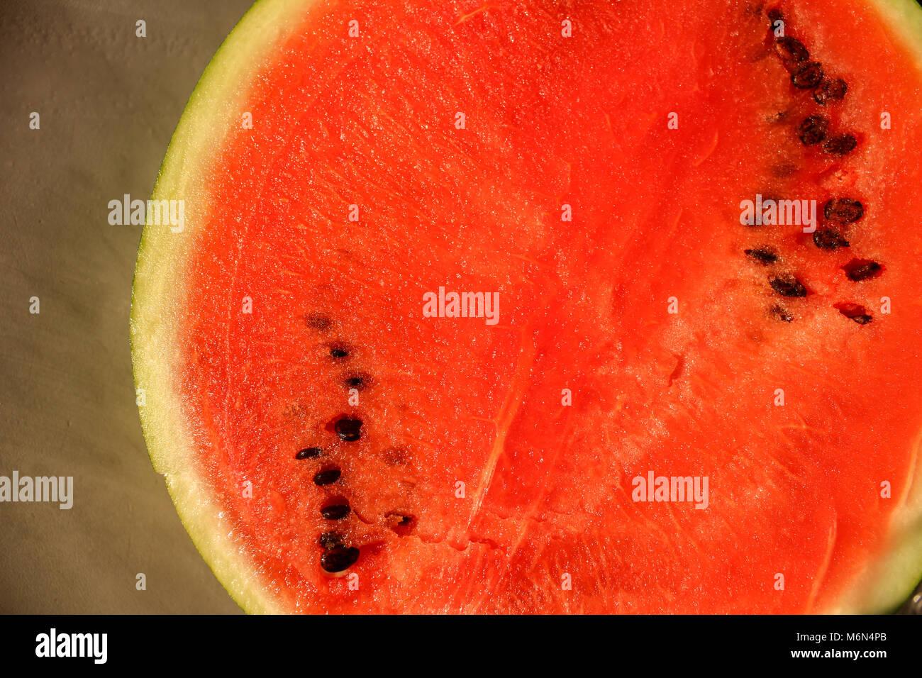 Watermelon sur bois, la photo en gros Banque D'Images