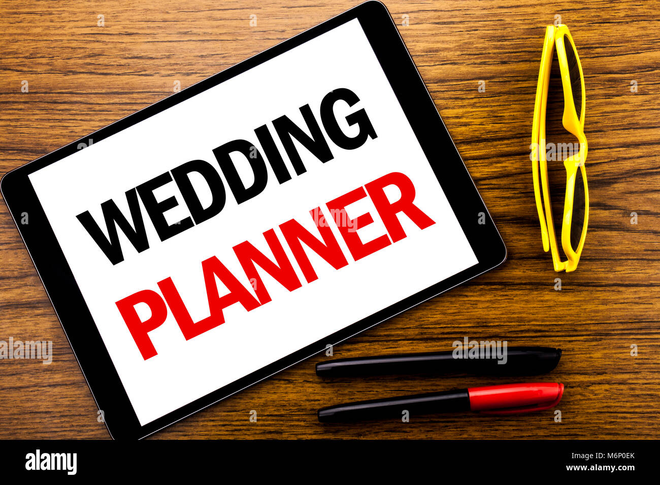 L Ecriture De Texte Montrant Wedding Planner Concept D Affaires