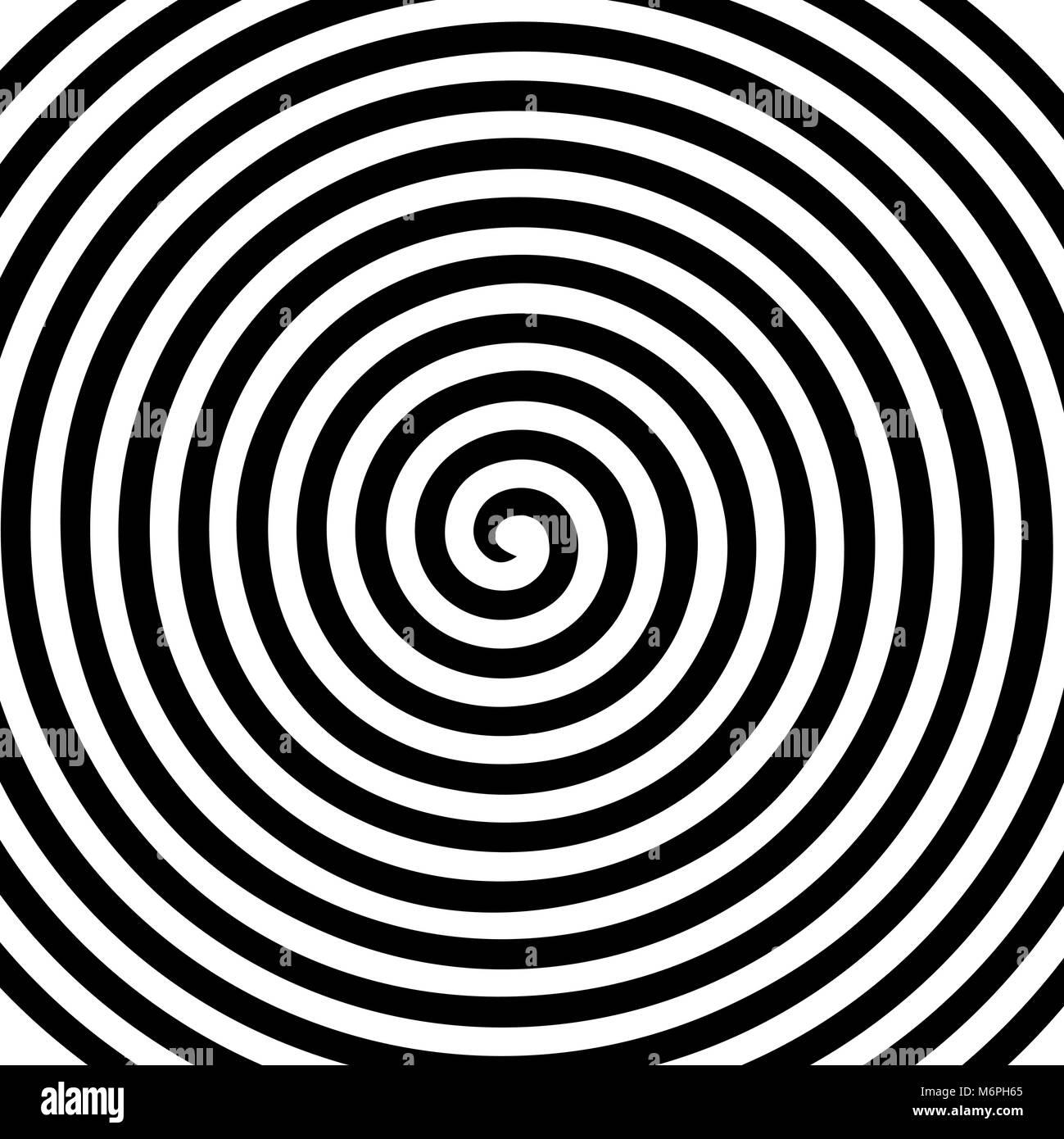 Noir Blanc Résumé Ronde Spirale Hypnotique Vortex Wallpaper