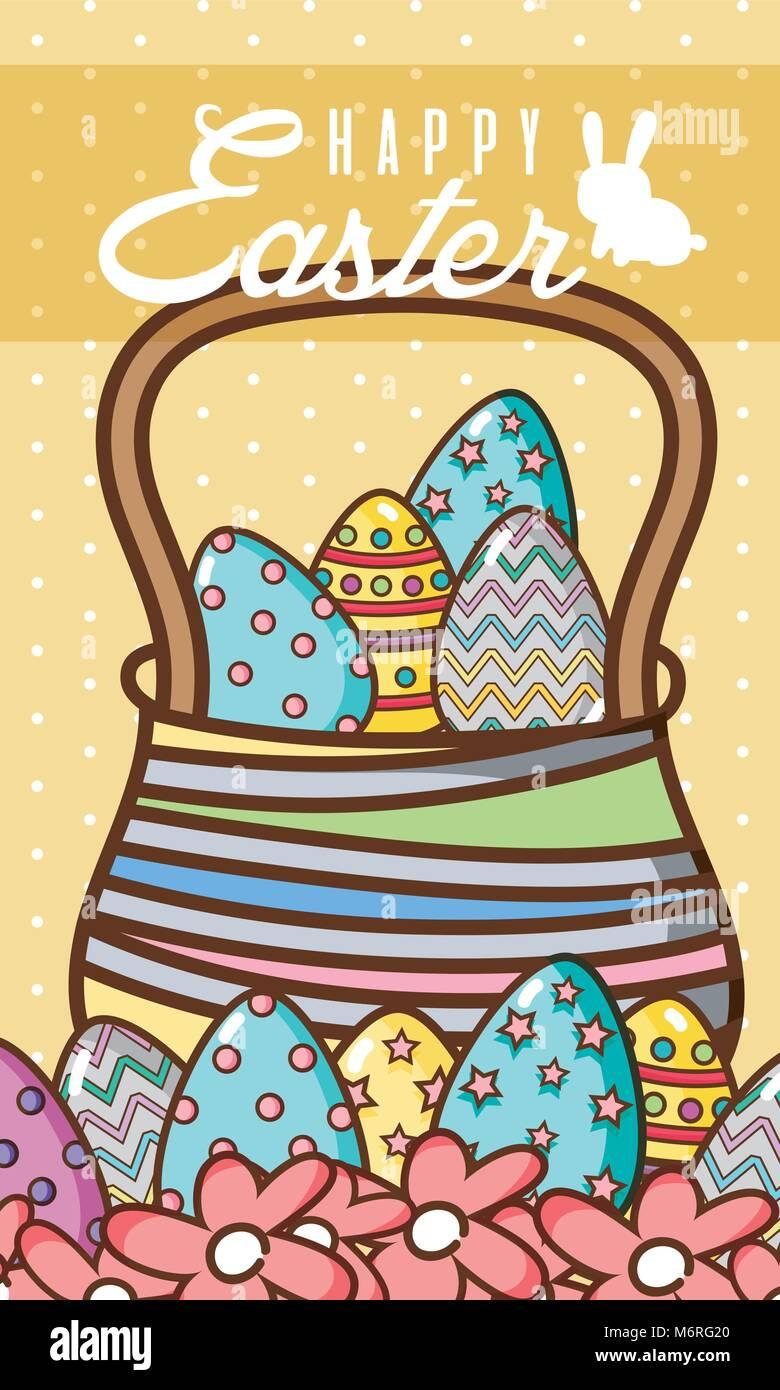 Happy Easter basket scdp Illustration de Vecteur