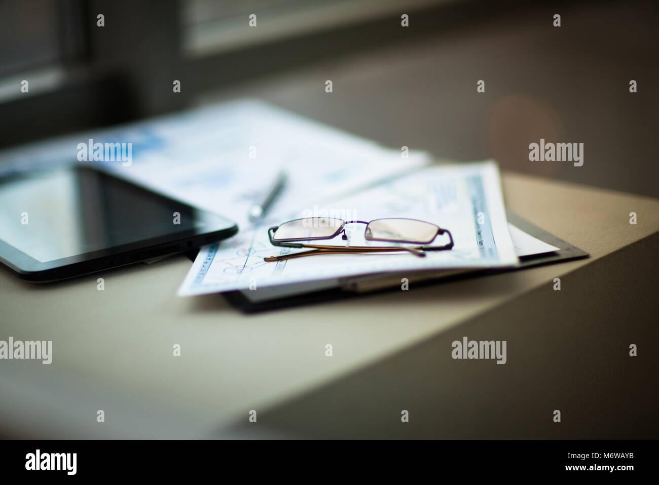 De l'analyse financière des entreprises de travail Banque D'Images