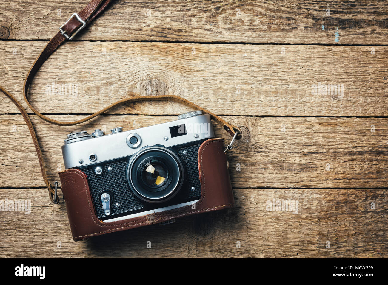 Old vintage camera photo film Photo Stock