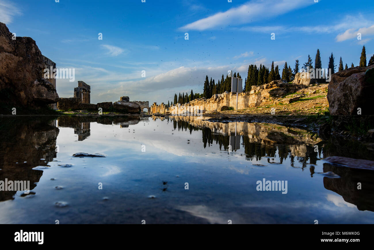 Ancienne ville de Hiérapolis Pamukkale Denizli,,,Turquie Photo Stock