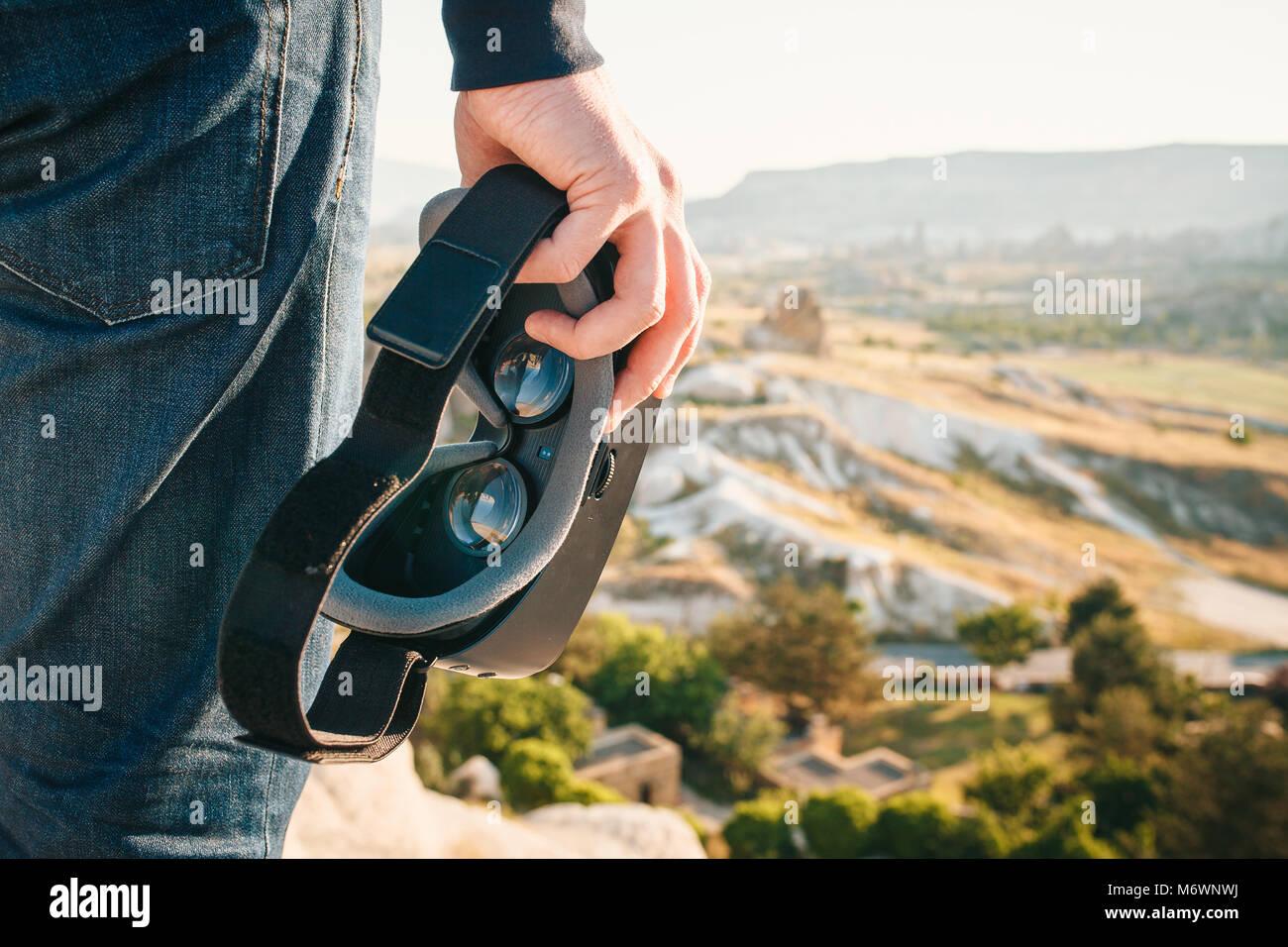 Lunettes de réalité virtuelle. La future technologie concept. La technologie de l'imagerie moderne. Photo Stock
