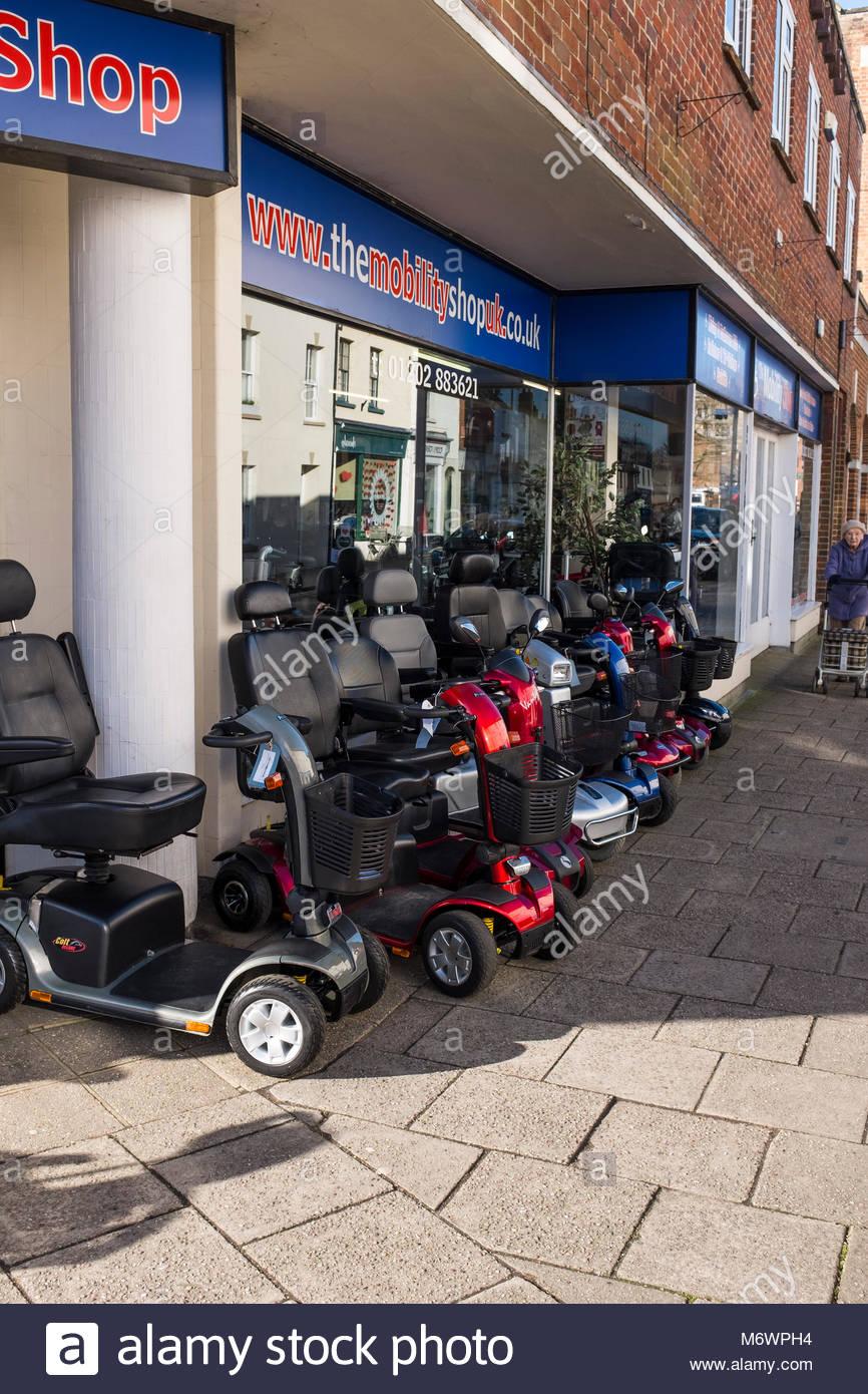 La mobilité boutique, Wimborne Minster, Dorset, Photo Stock