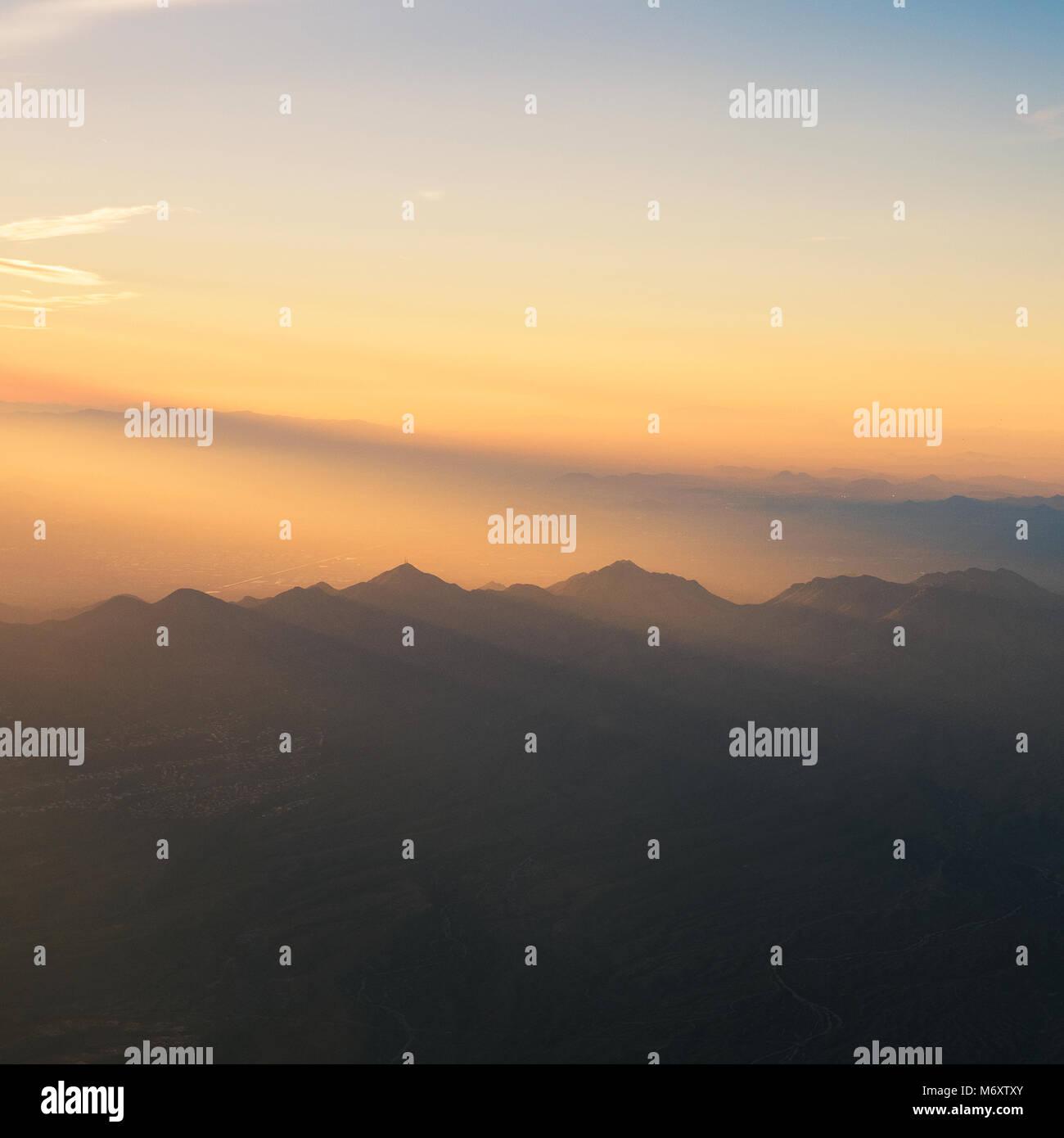 Vues de l'Arizona d'en haut Photo Stock