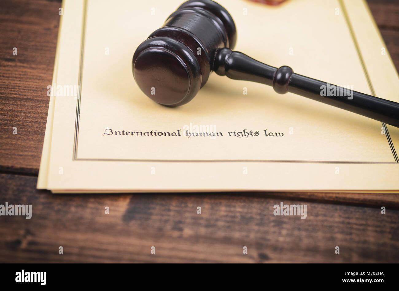 La loi et la justice, de la légalité, concept, Sceau du notaire juge Gavel , le droit international des Photo Stock