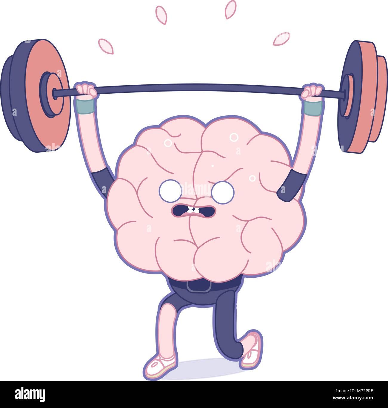 Entraînez votre cerveau série - La télévision a décrit la formation de l'illustration vectorielle, l'activité du Illustration de Vecteur