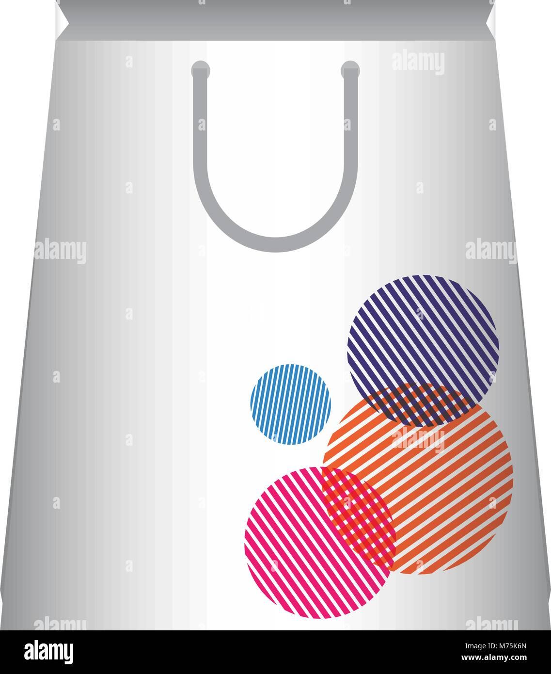Panier avec des cercles sur fond blanc design vector illustration Photo Stock