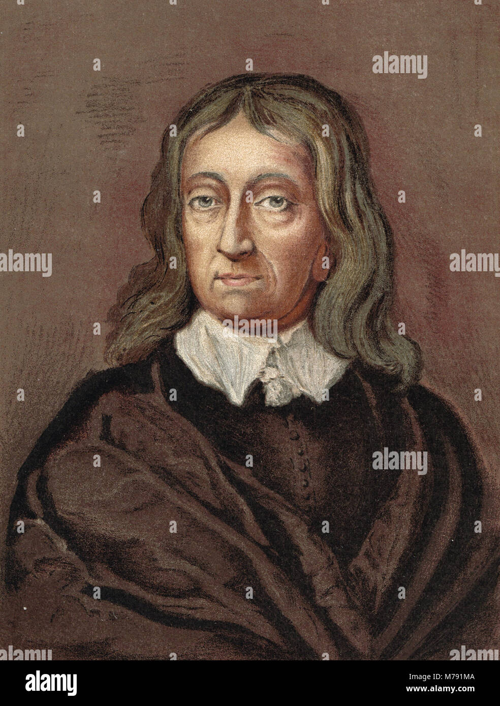 John Milton, poète anglais, (1608-1674) Banque D'Images