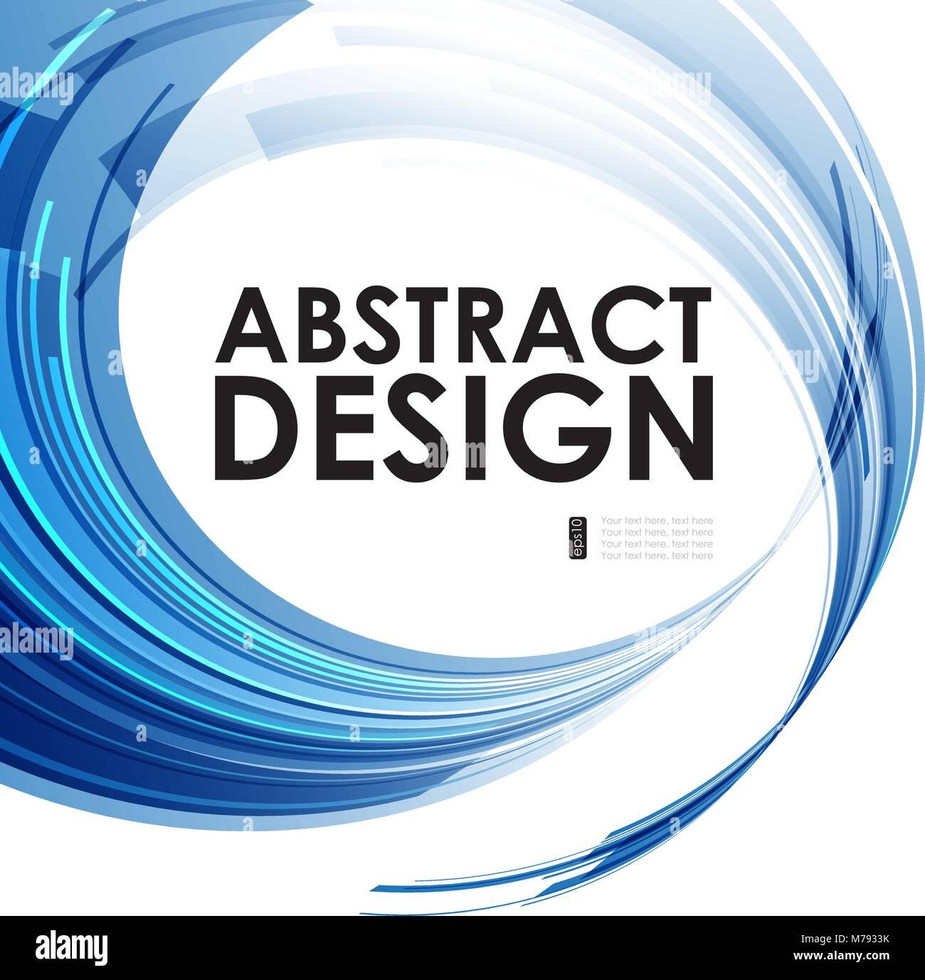 Abstract cercles technologiques fond bleu, composition motion Illustration de Vecteur