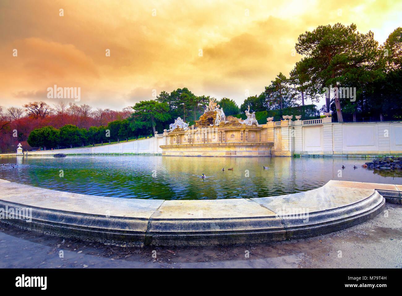 Palais de Schönbrunn, résidence d'été impériale à Vienne, Autriche Photo Stock