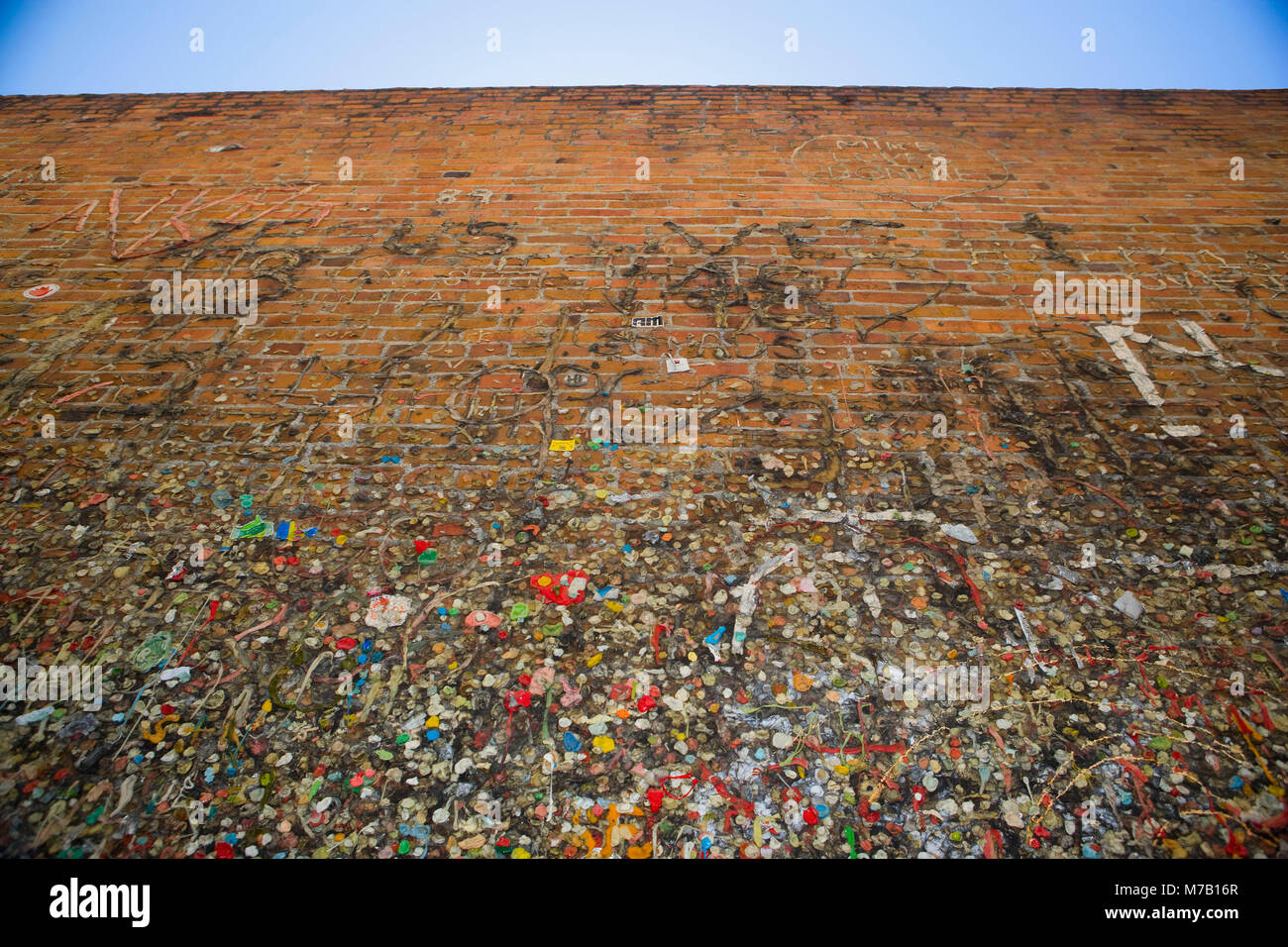Les gencives de la bulle sur un mur, Bubble Gum Alley, San Luis Obispo, Californie, USA Photo Stock